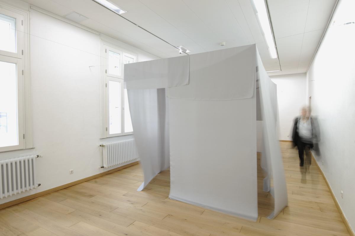 Alice Musiol, 12qm, 2015, Seide, Stahlseil, 480 X 250 X 250 Cm, Gelsenkirchen, Detail VI