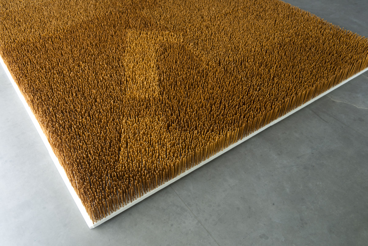 Garten VI, 2013, Salzstangen, Styropor, 300 X 250 X 16 Cm, Gesellschaft Für Kunst Und Gestaltung, Bonn