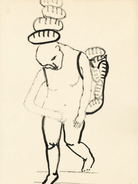 Alice Musiol - Ohne Titel - Brote Auf Kopf - 1997